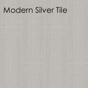 Motivo Modern Silver Tile Bathroom Panel