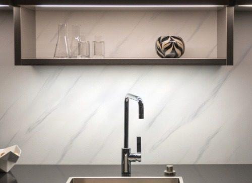 Poseidon Grey Marble Wall Panel