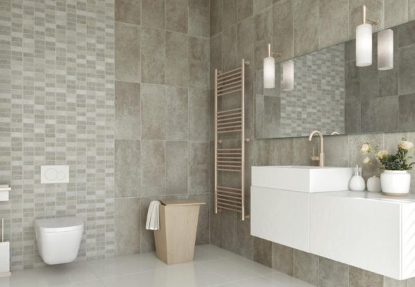 Neptune Beige Grout line Tile effect Bathroom Panel